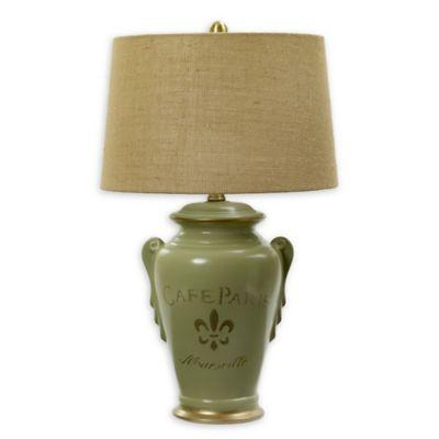 Fangio Lighting Fleur De Lis Cafe Paris Table Lamp In Lavender