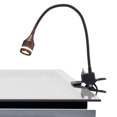 Adesso prospect led clip lamp in black