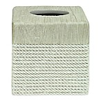 Bacova Cordata Resin Tissue Box Cover  in Grey