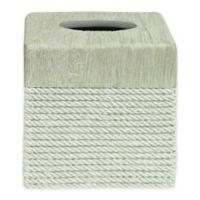 Bacova Cordata Resin Tissue Box Cover in Grey