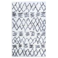 Couristan® Kaza Loomed 2' x 3'11 Accent Rug in White/Mink