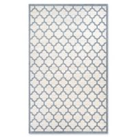 Couristan Garden Gate Quatrefoil 2' x 3'11 Accent Rug in Oyster/Slate Blue