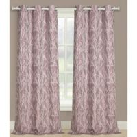 Taylor 63-Inch Grommet Window Curtain Panel Pair in Plum