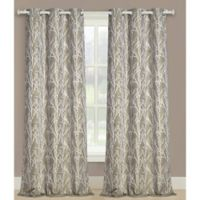 Taylor 95-Inch Grommet Window Curtain Panel Pair in Natural
