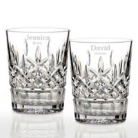 Waterford® Lismore Personalized Double Old Fashioned Glasses (Set of 2)
