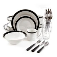 Gibson Home Essex 32-Piece Combo Dinnerware Set
