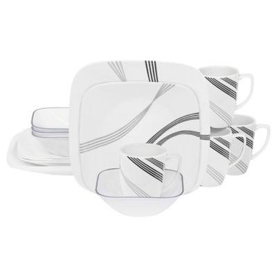 Corelle® Square™ Urban Arc 16-Piece Dinnerware Set  sc 1 st  Bed Bath u0026 Beyond & Buy Chip-resistant Dinnerware Set from Bed Bath u0026 Beyond