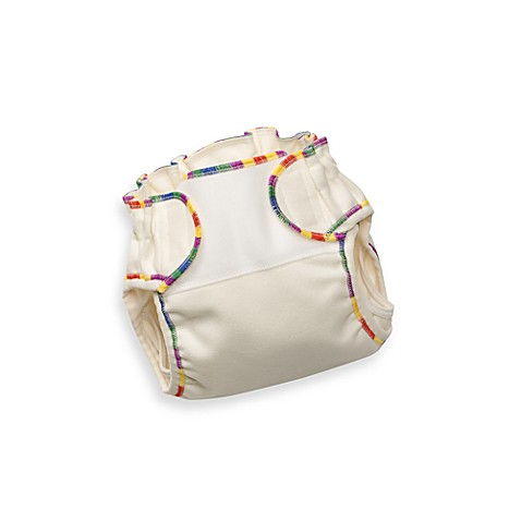 Biobottoms™ Size E Hi-Cut Natural Wool Cloth Diaper Cover in Rainbow