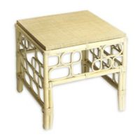 Butler Althea Rattan End Table in Beige
