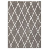 Chandra Rugs Zoya Diamond Trellis 5' x 7'6 Area Rug in Grey/White