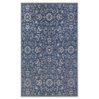 Couristan® Monte Carlo Summer Vines 5'10 x 9'2 Indoor/Outdoor Rug in Navy/Ivory