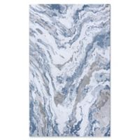 Couristan Abstract Marble 2' x 3'11 Accent Rug in Grey