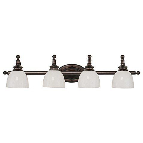 Bel Air Lighting Oil Rubbed Bronze And Opal Glass 4 Light