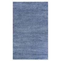 Couristan Medina Urban Shag 7'10 x 10'10 Area Rug in Light Blue