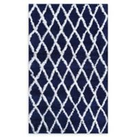Couristan® Temara Loomed 5'3 x 7'6 Accent Rug in Navy/White