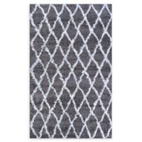 Couristan® Temara Loomed 5'3 x 7'6 Accent Rug in Mink/White