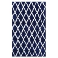 Couristan® Temara Power-Loomed 9'2 x 12'3 Area Rug in Navy/White