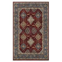 Couristan® Yamut Woven 5'3 x 7'6 Area Rug in Bordeaux/Slate