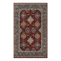 Couristan® Yamut Woven 7'10 x 10'10 Area Rug in Bordeaux/Slate
