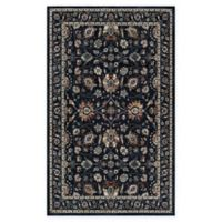 Couristan Monarch 5'3 x 7'6 Kerman Vase Area Rug in Navy