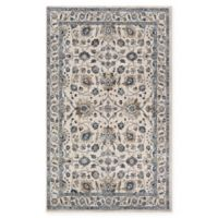 Couristan Monarch 5'3 x 7'6 Kerman Vase Area Rug in Antique Cream/Slate