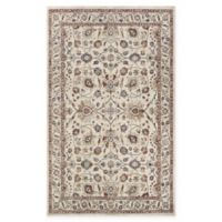 Couristan Monarch 5'3 x 7'6 Kerman Vase Area Rug in Antique Cream/Red