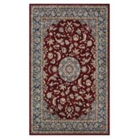 Couristan® Medallion Power-Loomed 5'3 x 7'6 Area Rug in Bordeaux/Slate