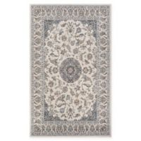 Couristan® Medallion Power-Loomed 5'3 x 7'6 Area Rug in Antique Cream/Slate