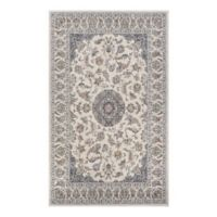 Couristan® Medallion Power-Loomed 7'10 x 10'10 Area Rug in Antique Cream/Slate