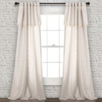 Lush Décor Ivy Tassel 84-Inch Rod Pocket/Back Tab Window Curtain Panel Pair in Neutral