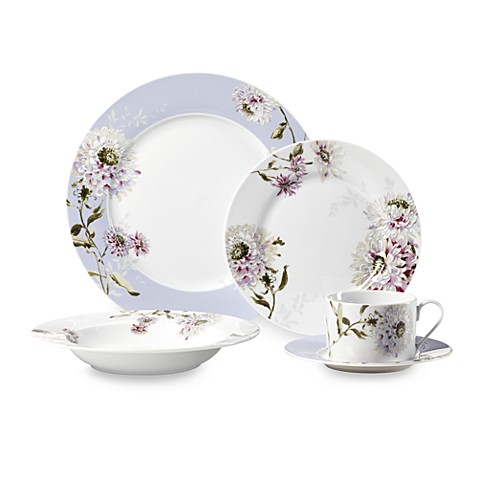 Mikasa silk floral lavender 5 piece dinnerware set bed bath beyond mikasa silk floral lavender 5 piece dinnerware set mightylinksfo