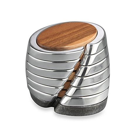 nambe anvil coaster set bed bath beyond. Black Bedroom Furniture Sets. Home Design Ideas