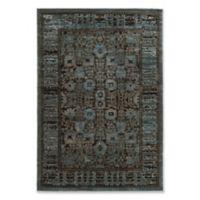 Linon Home Platinum Isphahan 8' x 11' Area Rug in Blue/Black
