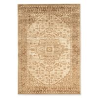 Linon Home Platinum Heriz 8' x 11' Area Rug in Beige/Cream