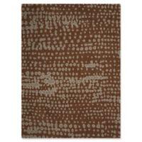 Calvin Klein Textured Wool Rug 5'6 x 7'5 Area Rug in Earth