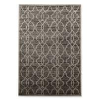 Linon Home Platinum Raw Iron 2' x 3' Accent Rug in Gray/Black