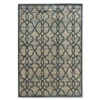 "Linon Home Platinum Raw Iron 5' x 7' 6"" Area Rug in Blue/Cream"