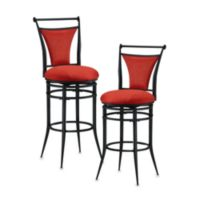 Hillsdale Cierra 26-Inch Swivel Counter Stool in Flame Red
