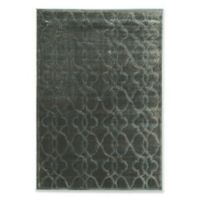 "Linon Home Platinum Raw Iron 5' x 7' 6"" Area Rug in Blue/Black"