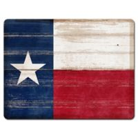 Texas State Flag Glass Cutting Board