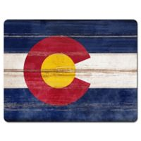 Colorado State Flag Glass Cutting Board