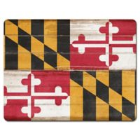 Maryland State Flag Glass Cutting Board