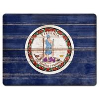 Virginia State Flag Glass Cutting Board