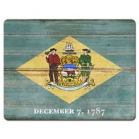 Delaware State Flag Glass Cutting Board