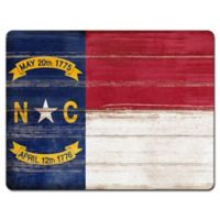 North Carolina State Flag Glass Cutting Board