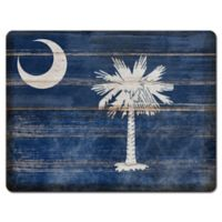 South Carolina State Flag Glass Cutting Board
