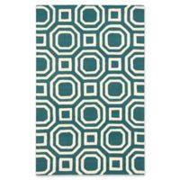 ECARPETGALLERY Kashbah 5' x 8' Area Rug in Cream/Dark Green