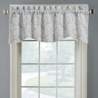 Allendale Lined Embroidered Window Valance in Grey