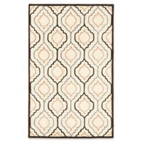 ECARPETGALLERY Abstract Hand-Tufted 5' x 8' Area Rug in Cream/Dark Browm