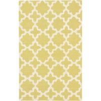 ECARPETGALLERY Kasbah Hand-Tufted 5' x 8' Area Rug in Cream/Emerald Green